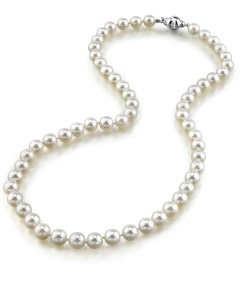 Japanese Akoya White Pearl Necklace