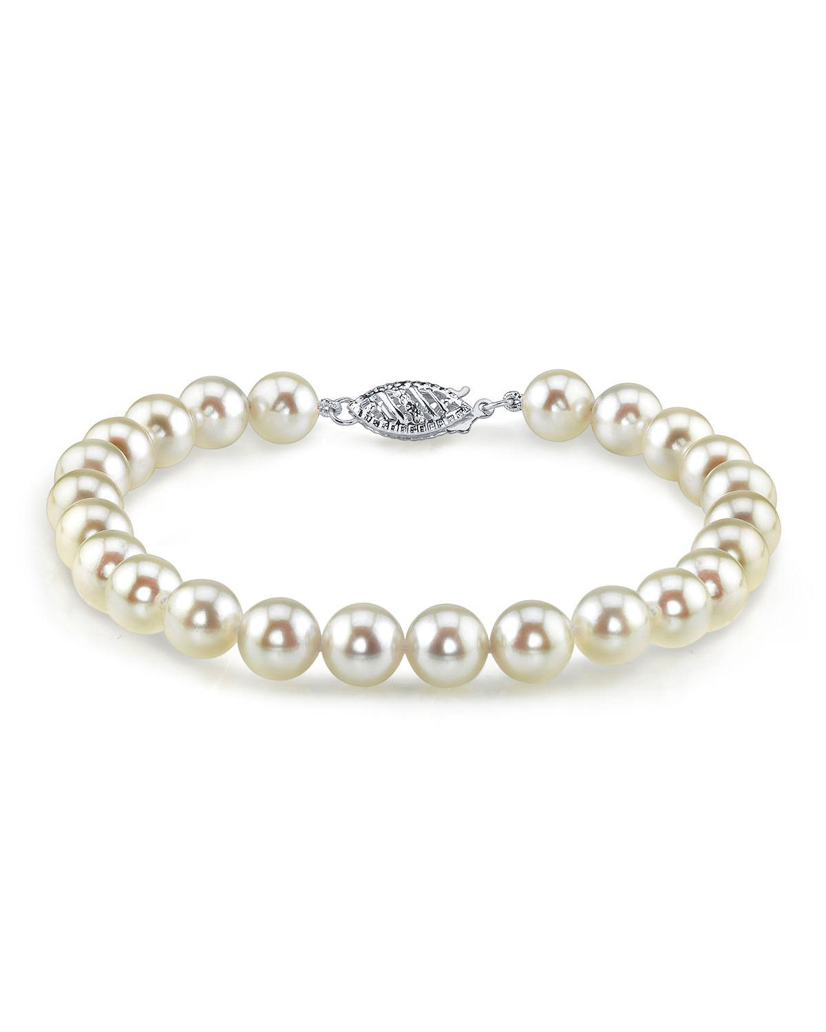 7 0 akoya white pearl bracelet the pearl source for White pearl