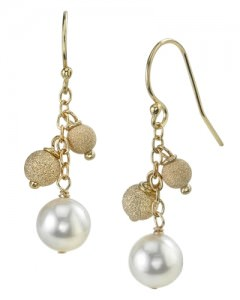 Tahitian South Sea Drop Multicolor Pearl Tincup Earrings from The Pearl Source