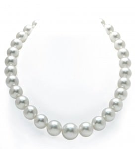 CERTIFIED 13-15mm White South Sea Pearl Necklace