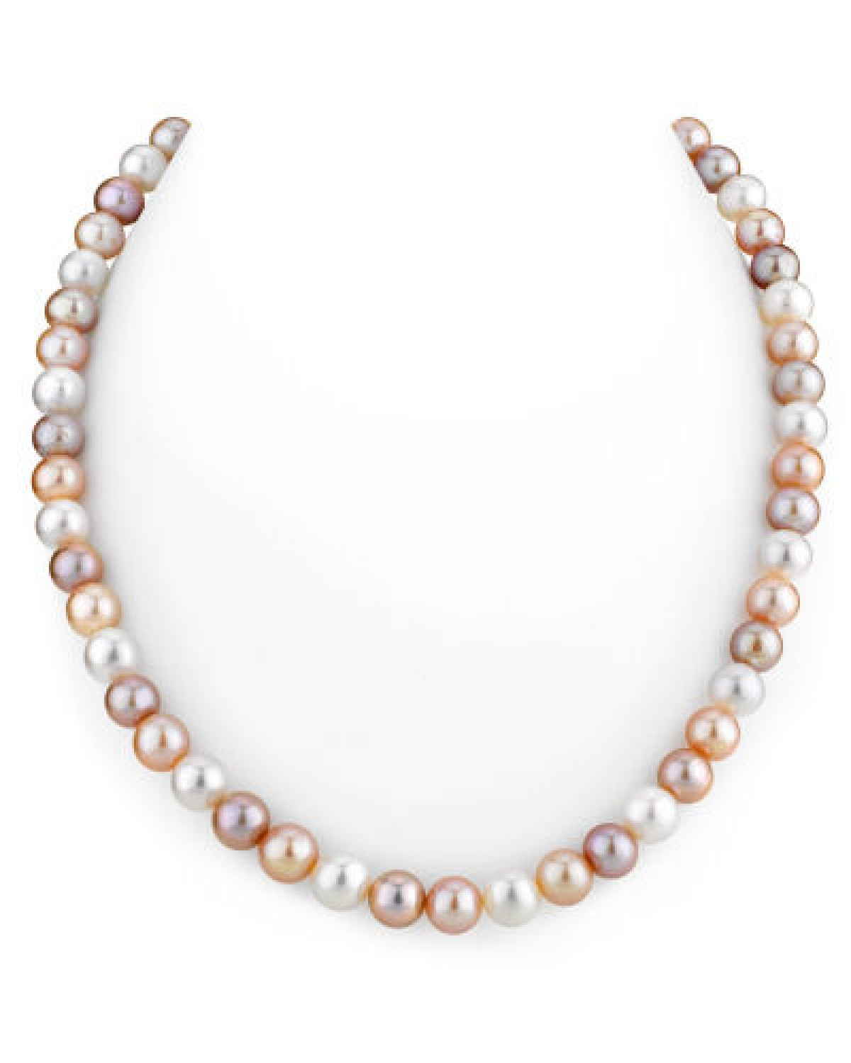 78mm Freshwater Multicolor Pearl Necklaceaaaa Quality