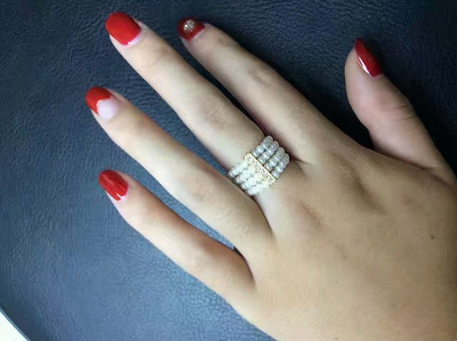 Check out this freshwater pearl wedding band for women. Isn't it simply stunning?!?!?! The Pearl Source can create one personalized just for you.
