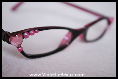 Check out this DIY project with just a few colorful gems for awesome pearl glasses.