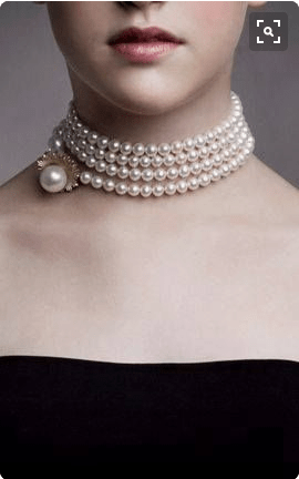 Chokers make awesome pearl wedding jewelry for brides with low cut and strapless dresses.