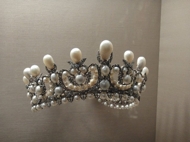 The Value of Diamonds and Pearls: Tiara Made of Diamonds & Pearls