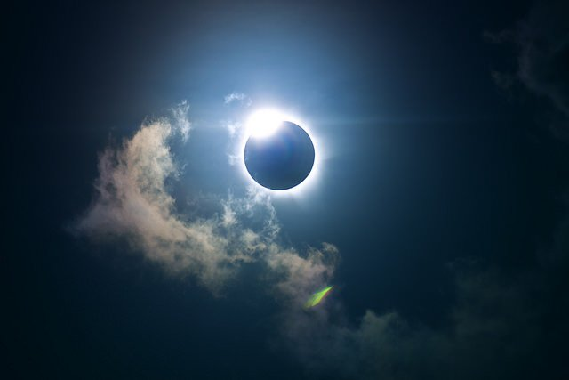 Image of the last total solar eclipse taken from Holloways Beach, Cairns QLD.