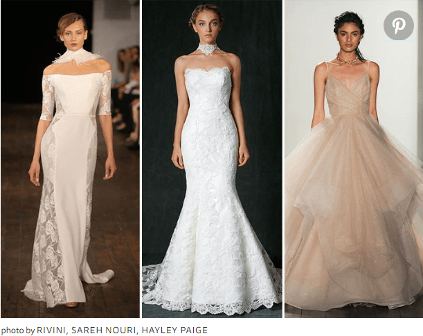 2017 Bridal Fashion Week Runway Dresses Featured Gorgeous Looking Chokers