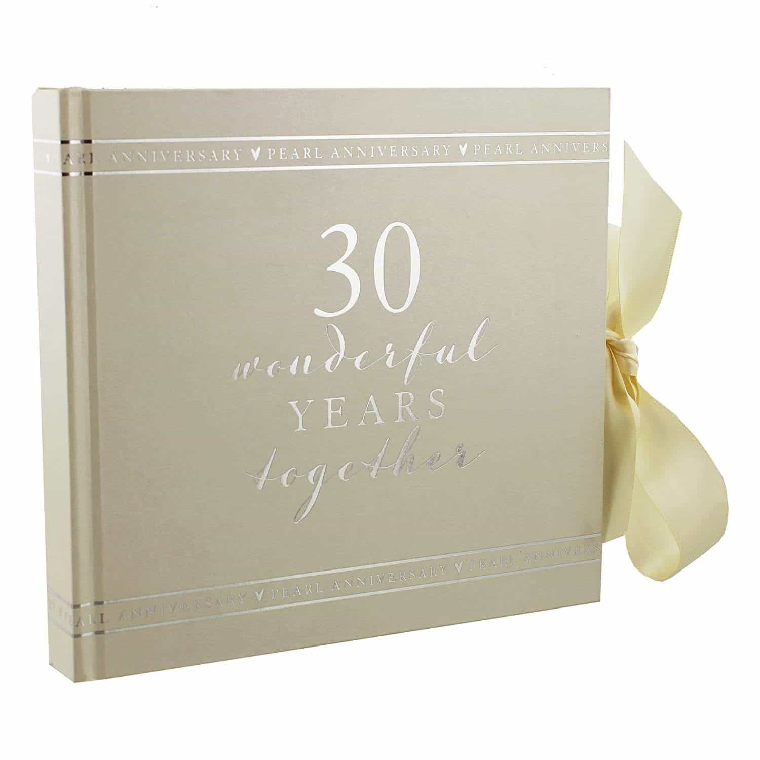 Give her a 30th wedding anniversary album personalized by you!