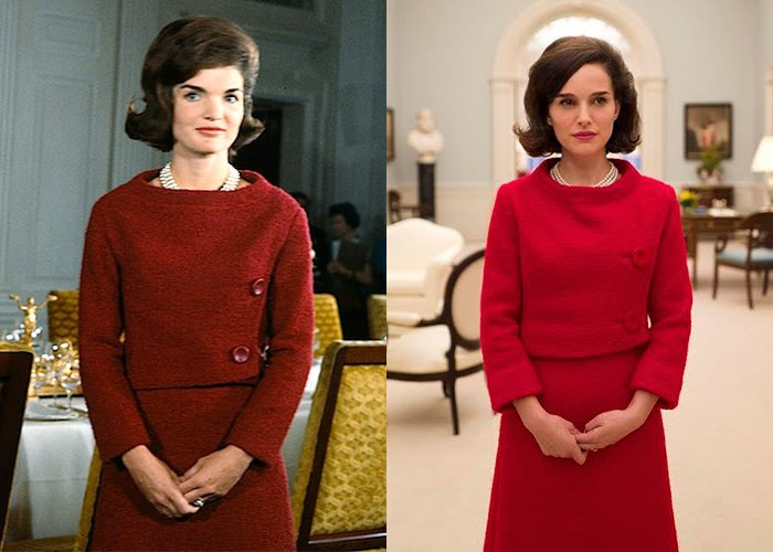 Natalie Portman played Jackie O, who truly loved her pearls.