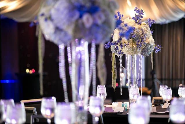 A wedding planner can help you with details like floral arrangements and table decor.