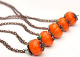 Halloween Wedding Jewelry Ideas: Pumpkin Pieces