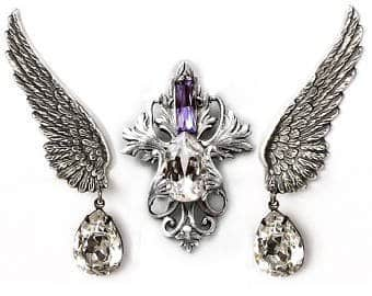 Halloween Wedding Jewelry Ideas: Victorian Gothic Jewelry Set