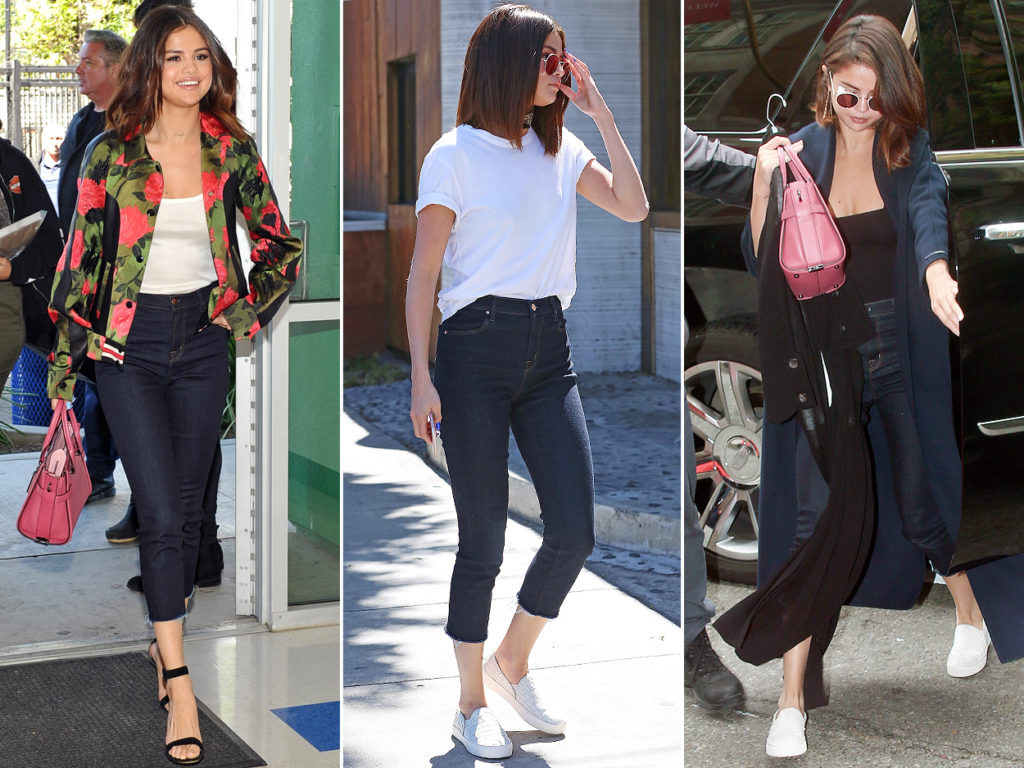 Celebrity Spotlight: Selena Gomez pairs skinny jeans up with just about anything.