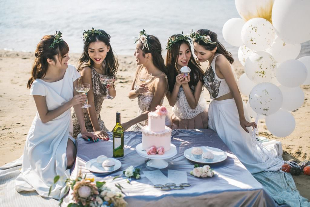 women beach formal weddings