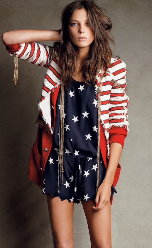 Americana Stripes and Stars Outfit