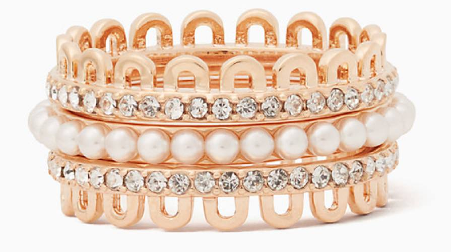 Stackable Diamond and Pearl Ring
