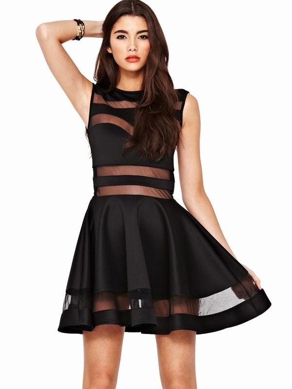 Transparent Black Dress