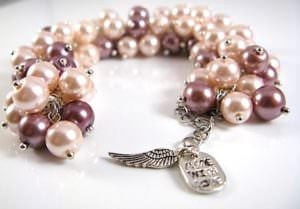 This Brown and Light Pink Pearl Cluster Bracelet can be custom created to make an awesome holiday gifts for pearl lovers.
