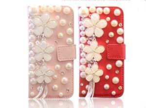 DH Gate Floral & Pearls Samsung Galaxy Cell Phone Case