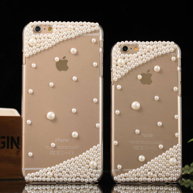 Simple Clear Luxury Pearl iPhone Case