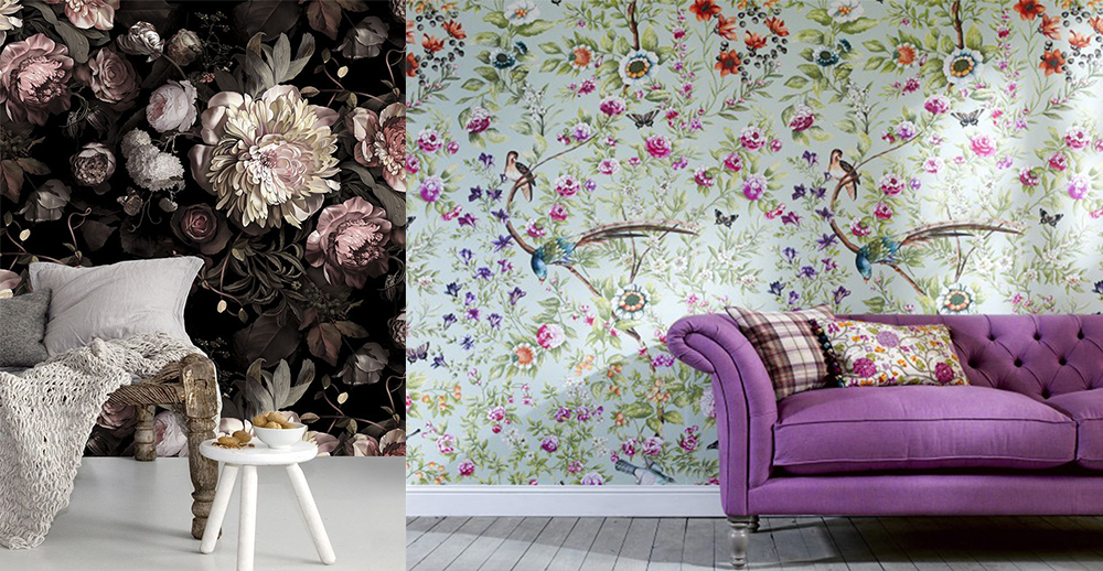 2018 floral wall designs.