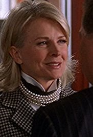 Attorney Shirley Schmidt from Boston Legal Wearing Layered Pearl Necklace.
