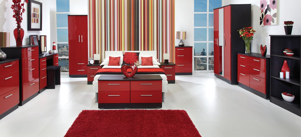 7 Ruby Reds Black Red Bedroom Decor