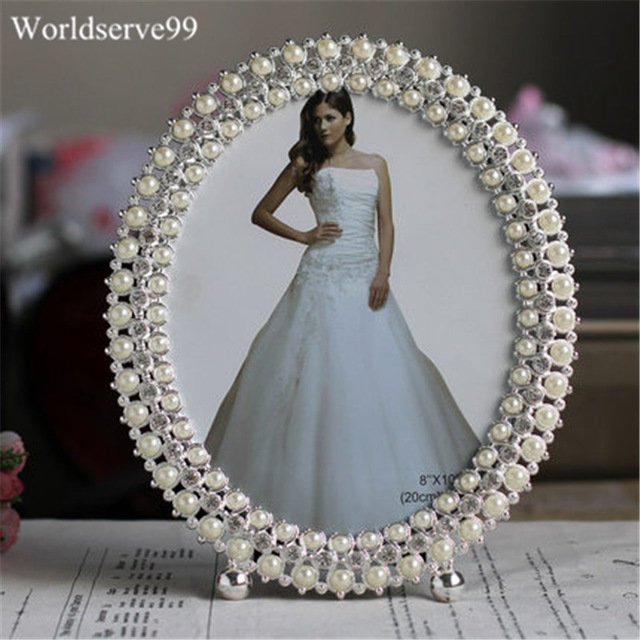 Crystal & Pearl Picture Frame