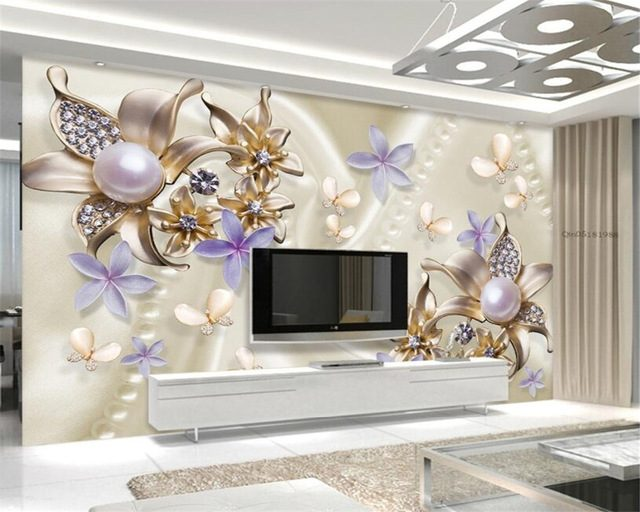 European Style Pearl Wallpaper