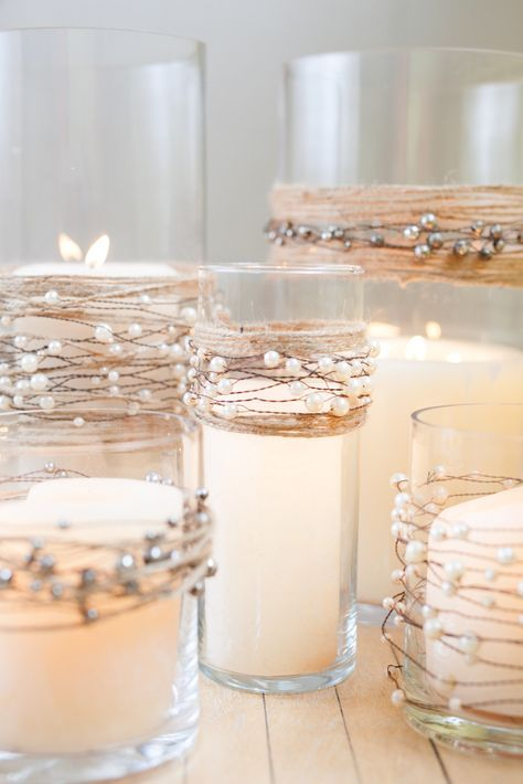 Pearl Candle Decor