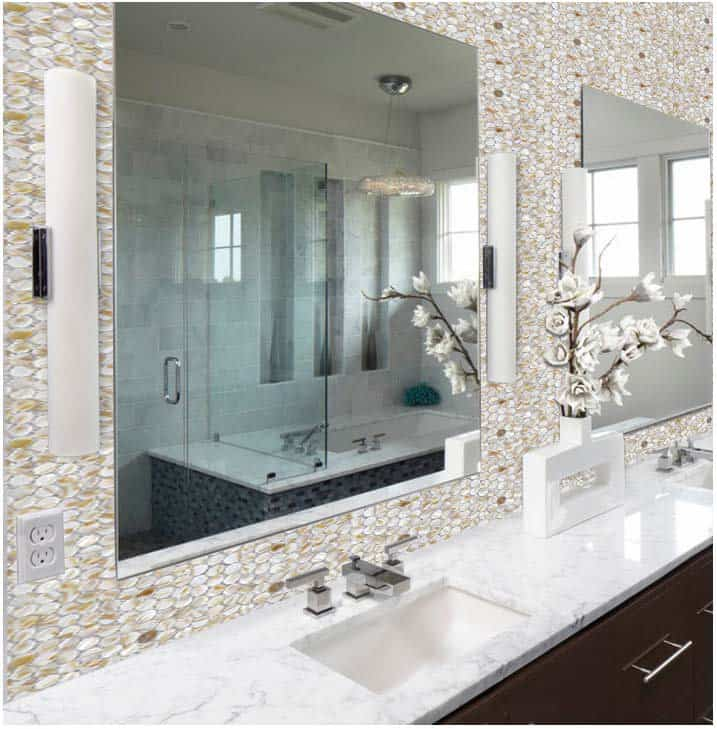 Pearl Home Design Trends for 2018: Pearl Mosaic Tile