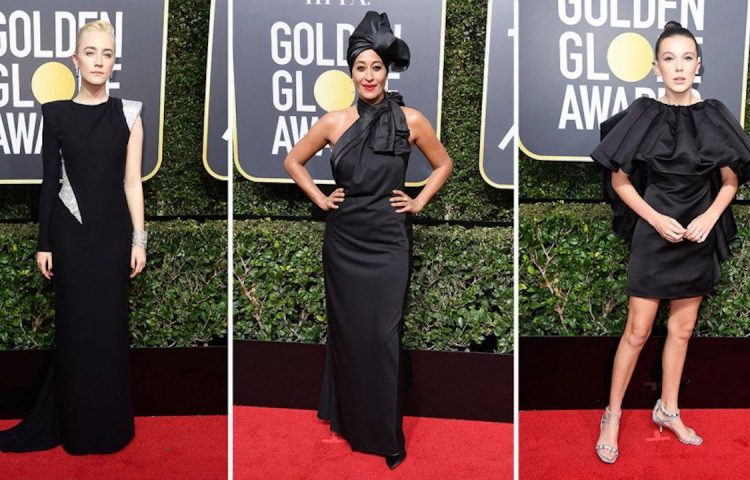 Black Dresses were worn at the 2018 Golden Globes to support those affected by sexual harassment in Hollywood.