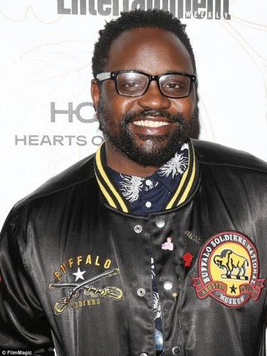 Brian Tyree Henry wore pearl pin between two of his buttons at Entertainment Weekly's SAG party