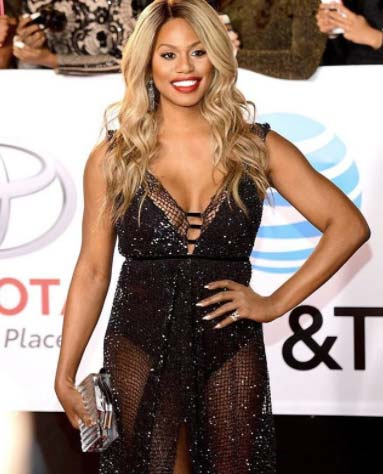 Laverne Cox of Orange Is the New Black looked stunning in this see-thru get-up and H.Stern earrings at the 2018 Image Awards.
