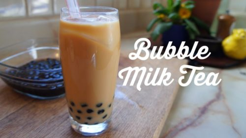 Pearl Milk Tea AKA Bubble Milk Tea has little tapioca balls within the beverage that burst with flavor as you drink.