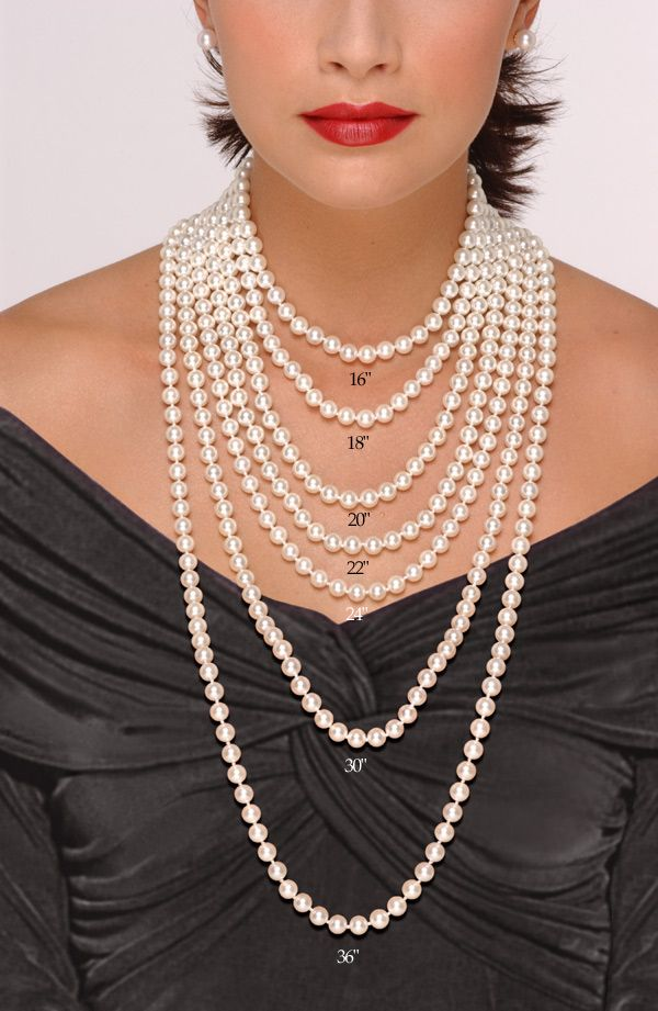 Pearl Necklace Length Chart