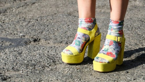 Socks and Sandals, once a fashion no-no, is in style this spring.