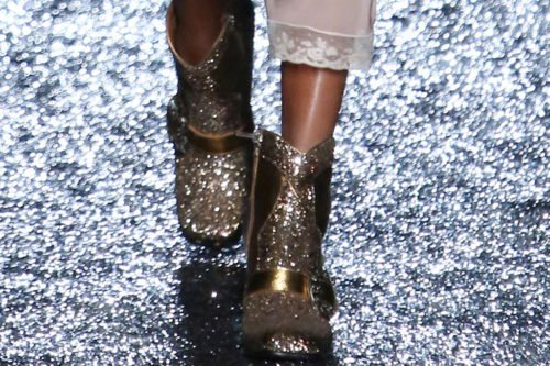 Spring 2018 New York Fashion Week Glitter Boots