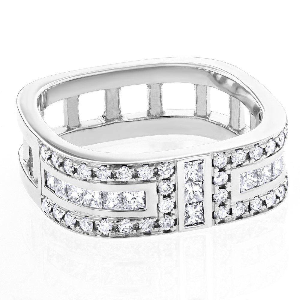 Wedding Ring Design Ideas: Square Men's Wedding Band with Diamonds