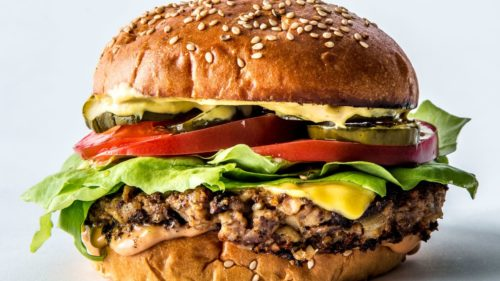 The Ultimate Veggie Burger: No, that's not animal meat or cheese.