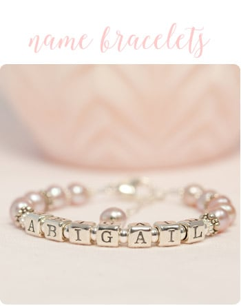Personalized Valentine's Day Name Bracelets for Girls