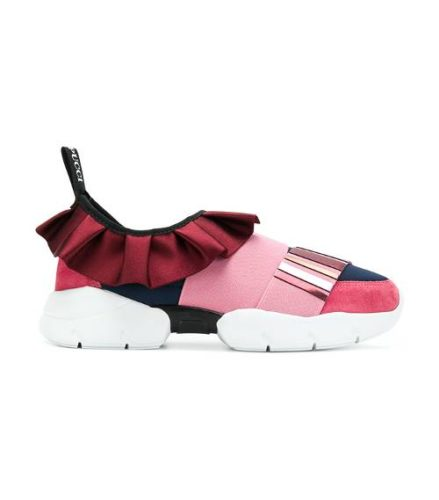 The Sporty Spice look is one of the hot boot and shoe trends of spring 2018.