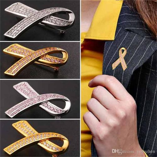 This 2018 Breast Cancer Awareness brooch is an appropriate accessory for your workplace attire.