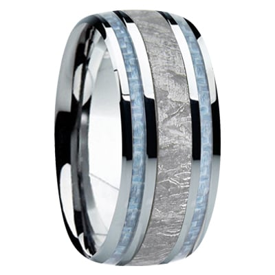 9 mm Meteorite Wedding Band for Men