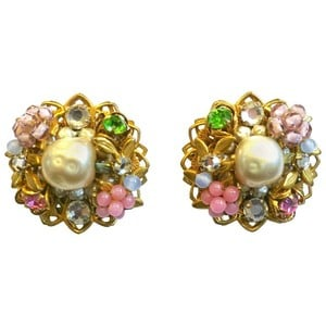Colorful Baroque Pearl Earrings