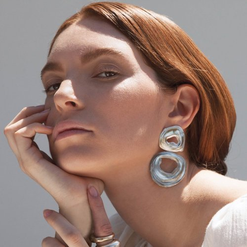 Leigh Miller Double Whirpool Earrings