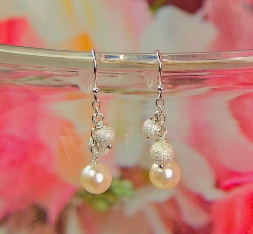 Gold Pearl & Charm Earrings from The Pearl Source