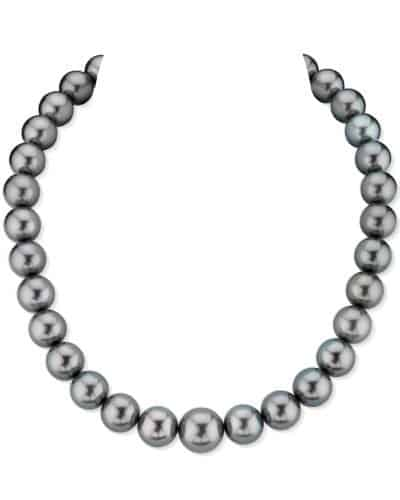 Green Tahitian South Sea Pearl Necklace by The Pearl Source