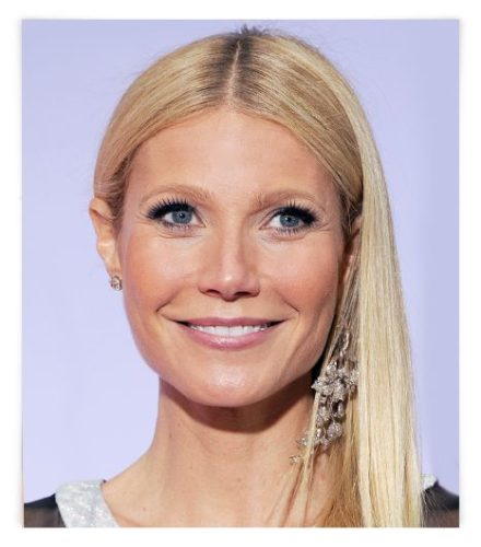 Gwyneth Paltrow Wearing Mismatched Earrings