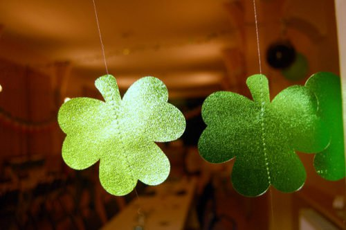 Hanging Green Clovers
